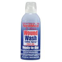 NeilMed Neil Cleanse Sterile Saline Solution Wound Wash, 6 fl oz