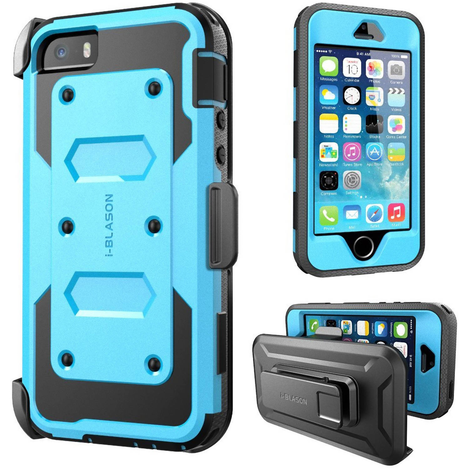 i-Blason Armorbox Case for Apple iPhone 5S, Blue