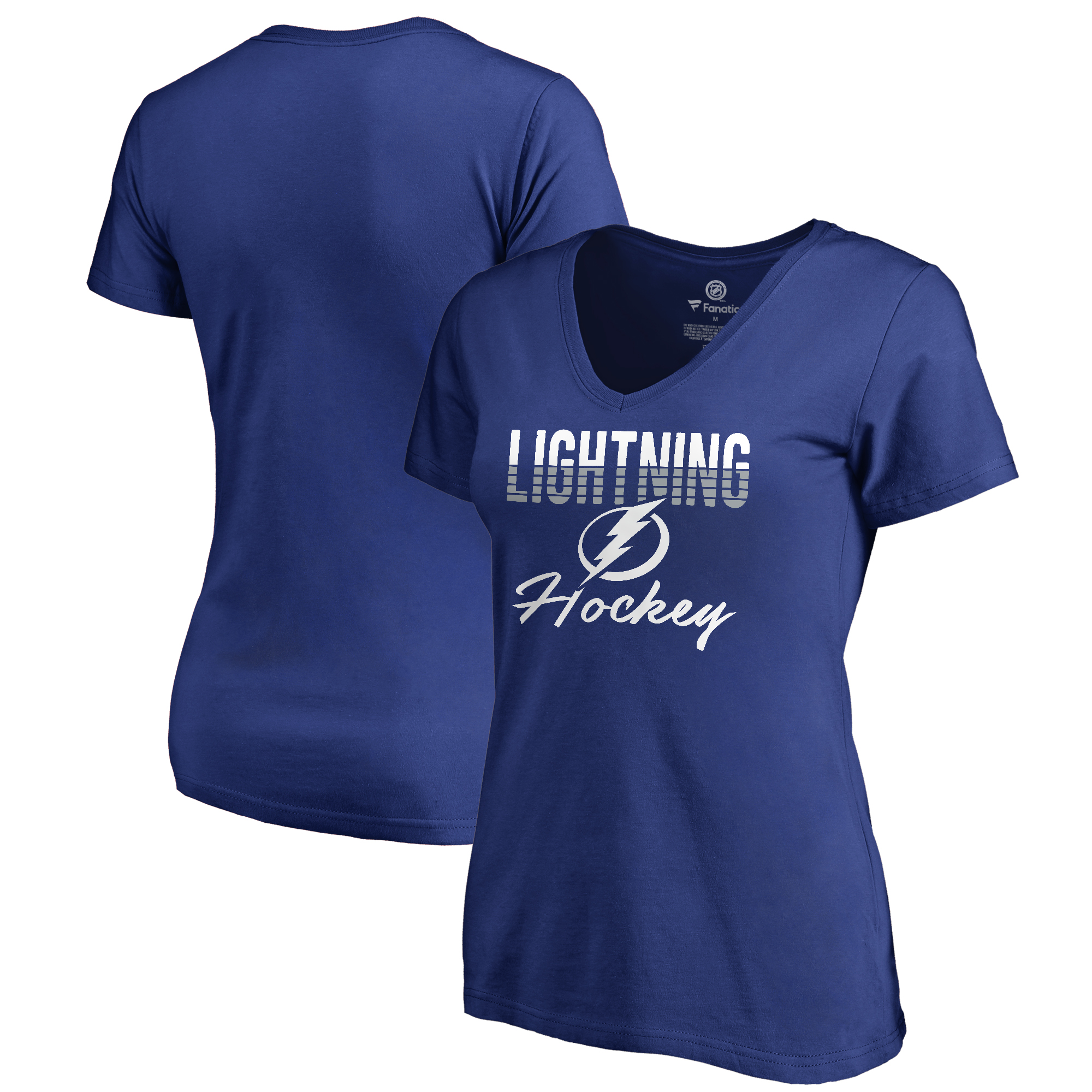 Tampa Bay Lightning Fanatics Branded Women's Freeline Plus Size V-Neck T-Shirt - Royal