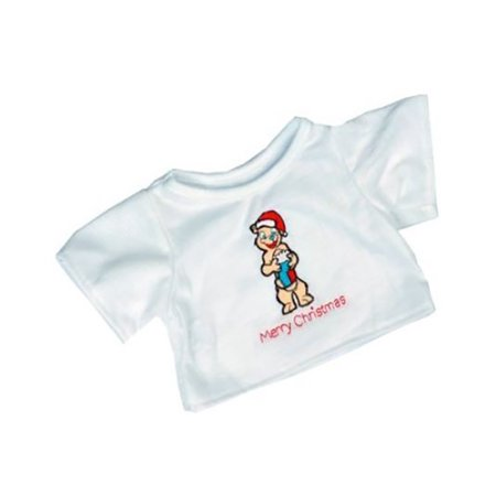 Santa Bear T-Shirt Teddy Bear Clothes Fits Most 14