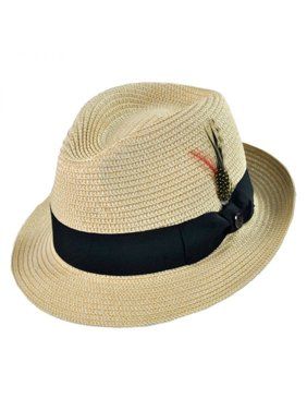 6200162faaa Product Image Toyo Straw Braid Trilby Fedora Hat - XL - White