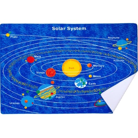 Solar System Rug (Hr Kids Rugs Educational.Play Time/Learning.Blue Solar System.Gel)