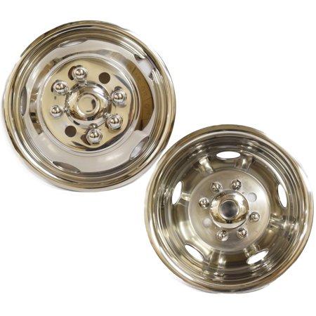 "Gmc 3500 Dually - 17"" GMC 3500 08~16 Dodge 3500 13~16 Stainless Steel Wheel Simulator Dually rim liner skin"
