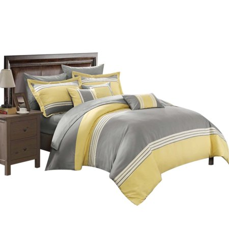 Yellow Comforter - Karsa Falcon 10 Piece Comforter Sheet Set Bed In A Bag King & Queen Yellow