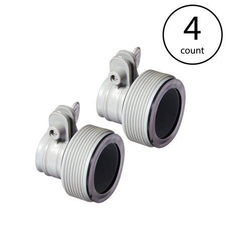 Intex Replacement Hose Adapter B w/ Collar for Filter Pump Conversion (4 Pack)