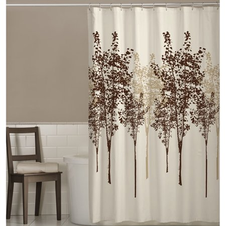 brown and white shower curtain. Maytex Delaney Fabric Shower Curtain  Walmart com