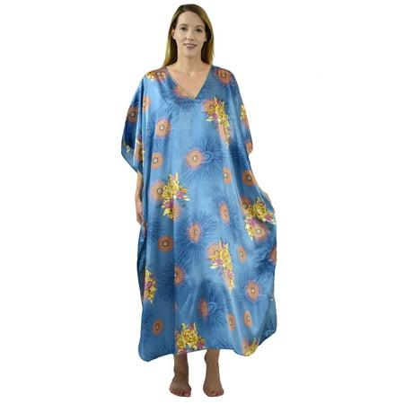 Up2date Fashion's Women's Caftan / Kaftan / Muumuu / Mumu, Spring Sky Floral