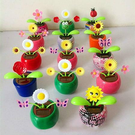 Solar-Powered Dancing Flower Eco-friendly Bobble head Solar Dancing Toys 5 pcs Bobble Head Collectibles