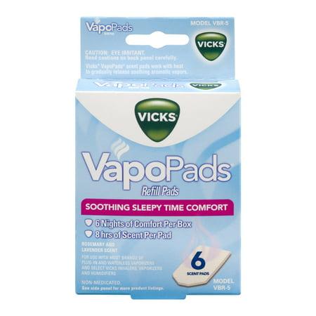 Vicks Vapopads Refill Pads Soothing Sleepy Time Comfort