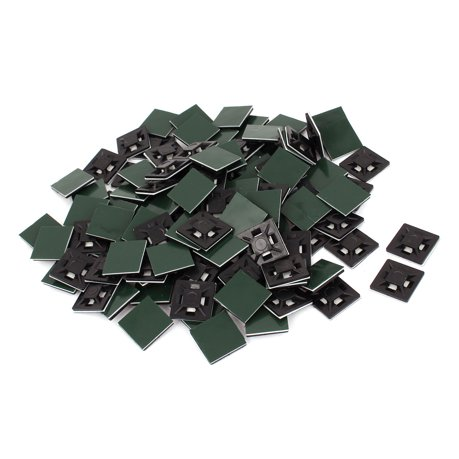 200pcs 21mmx21mm attache c ble auto adh sifs pour les. Black Bedroom Furniture Sets. Home Design Ideas