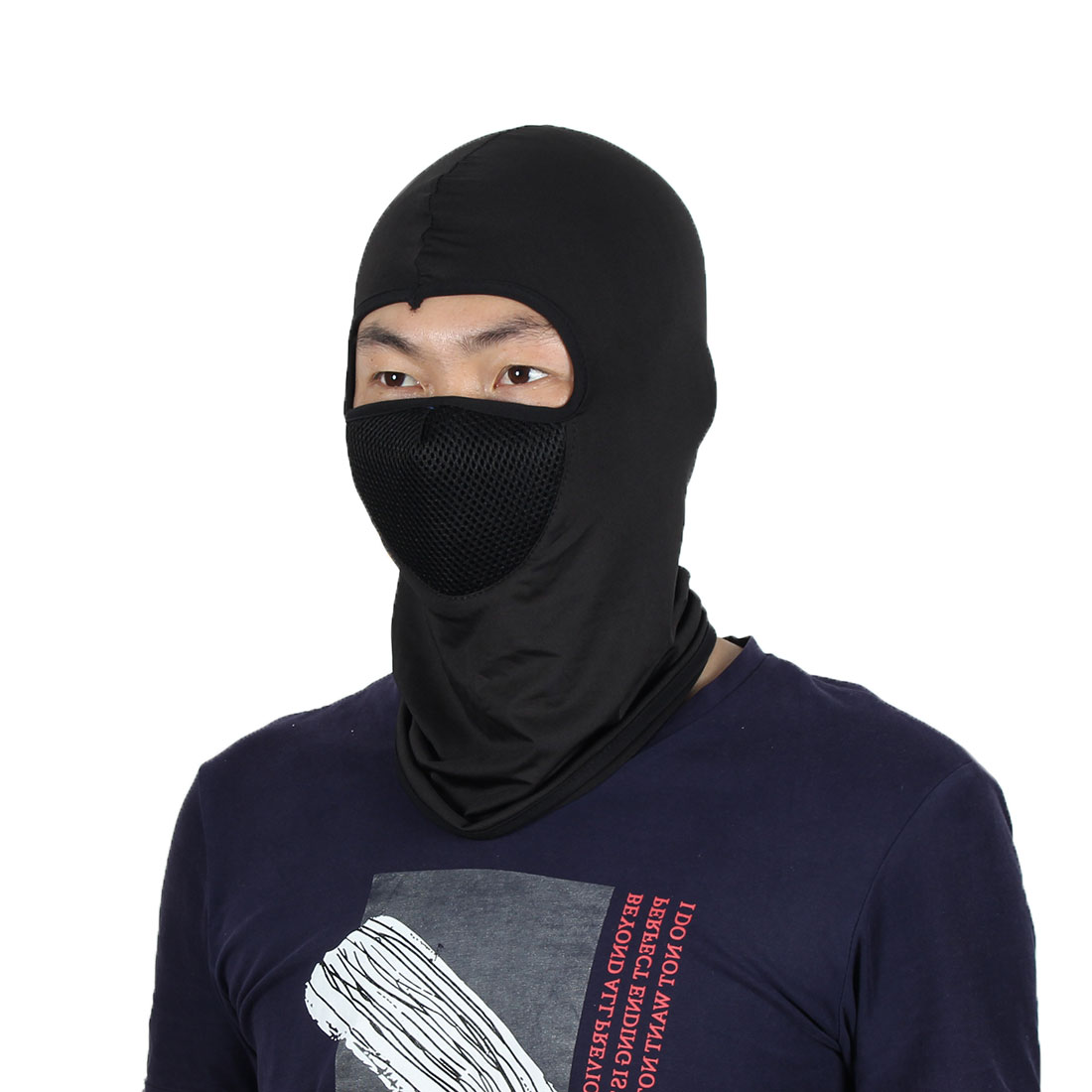 Full Face Mask Outdoor Sports Cycling Neck Protector Hat Helmet Balaclava Black