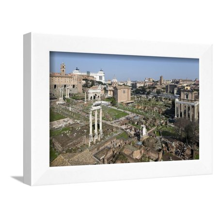 View of the Roman Forum (Foro Romano) from the Palatine Hill, Rome, Lazio, Italy Framed Print Wall Art By Stuart (Romano Rome Italy Framed)