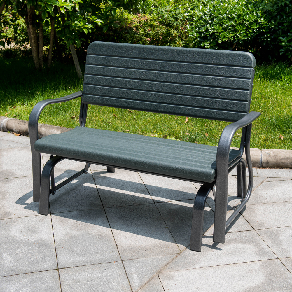 Outdoor Patio Furniture Gliders: Sundale Outdoor Deluxe 2 Person Loveseat Glider Bench