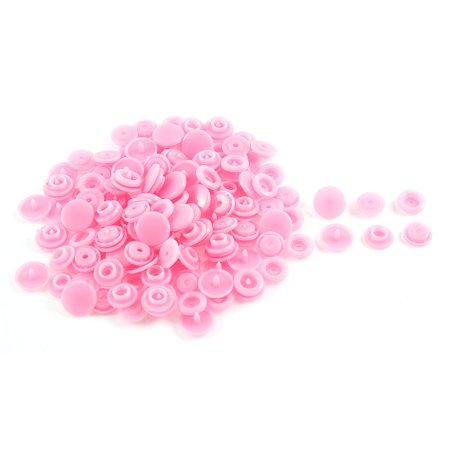 50 Pcs DIY Sewing Dress Press Fastener Buttons Popper Stud Pink - image 1 of 1