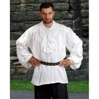 The Pirate Dressing C1014 John Reckham Shirt, White - 2XL