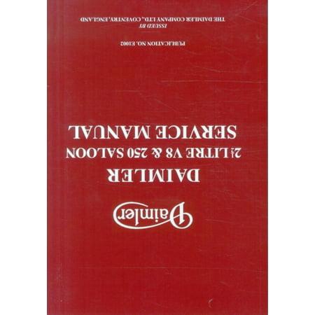Daimler 2 5 And 250 Saloon Service Manual  Paperback