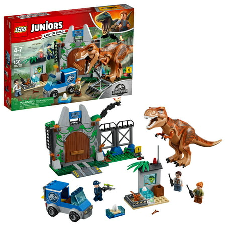 LEGO Juniors Jurassic World T. Rex Breakout 10758 (150 Pieces) (Lego Junior Bricks)