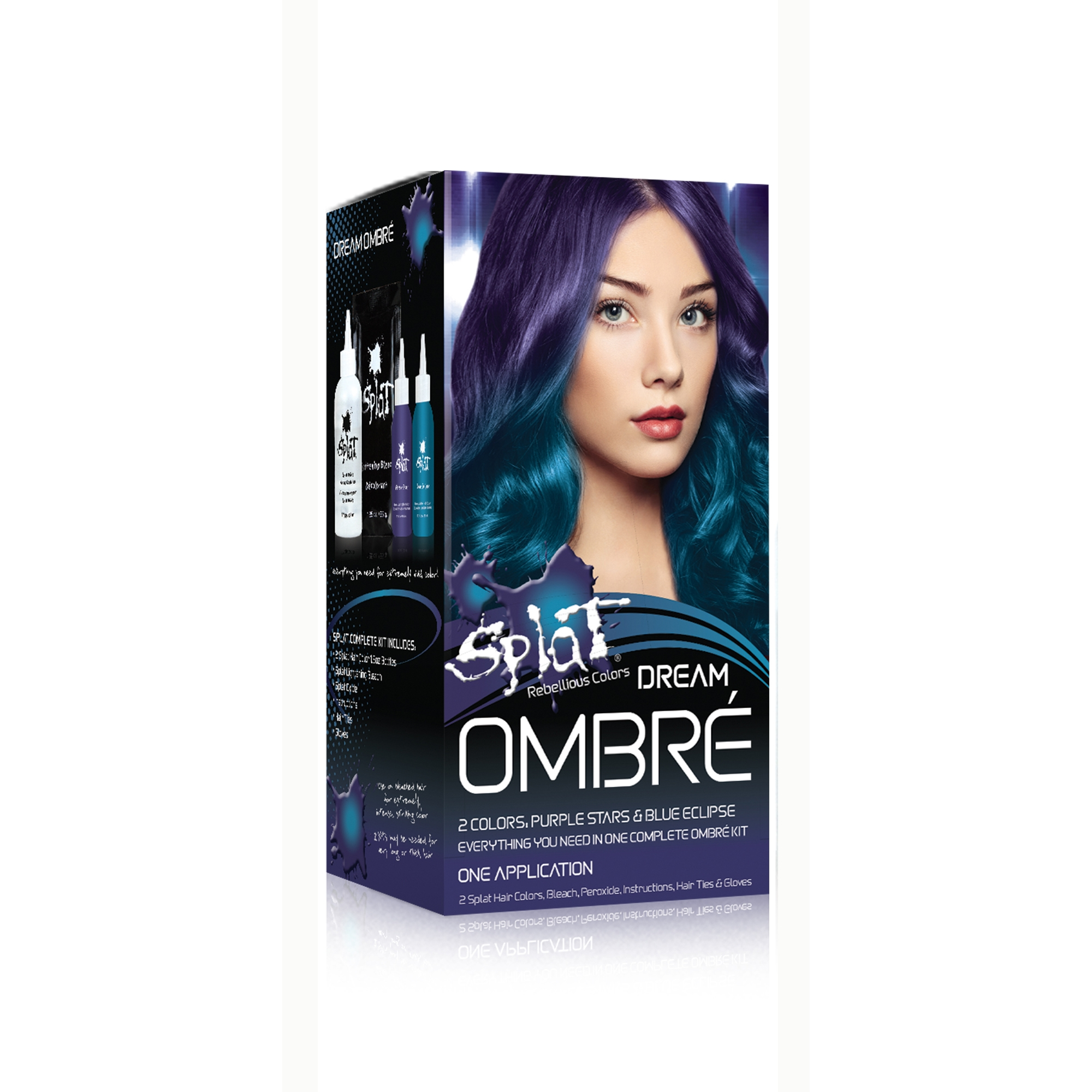 Splat 30 Wash Semi Permanent Hair Dye Kit Ombre Dream Walmart Com