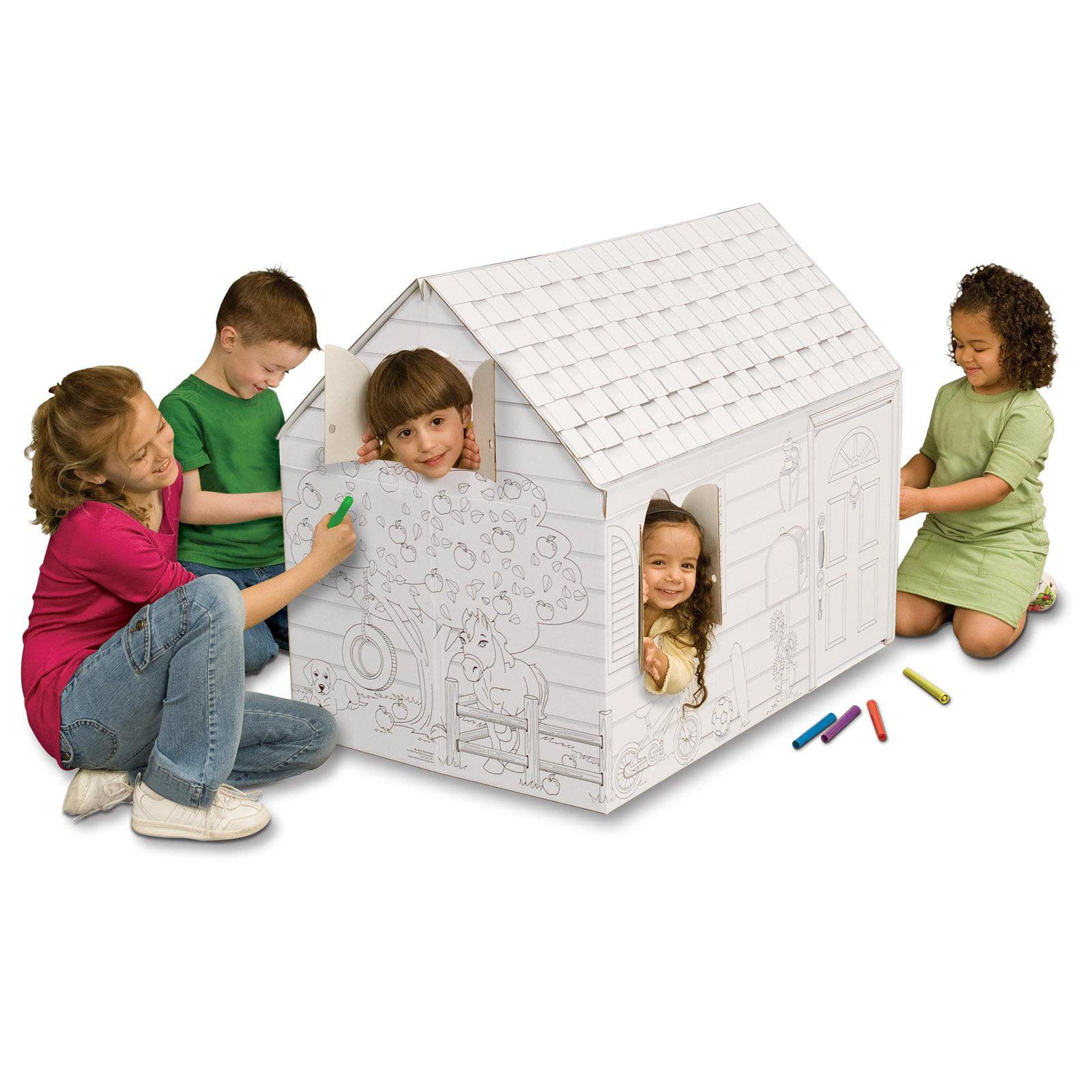 Pharmtec My Very Own Hide and Seek Cardboard Playhouse