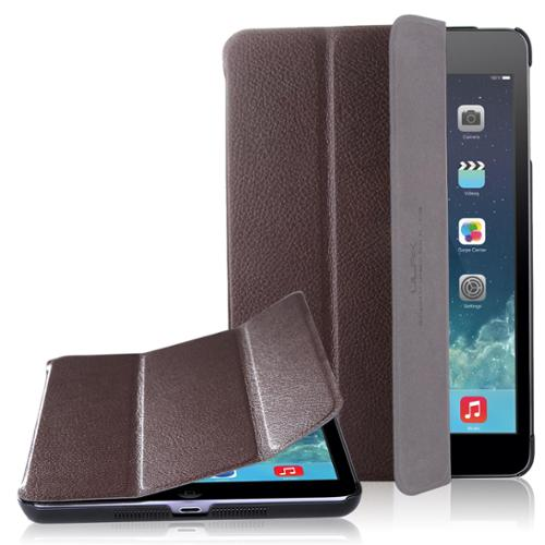 ULAK Synthetic Leather Case Smart Cover for Apple iPad Mini 1/2/3 with Auto Sleep/Wake Feature (Brown)