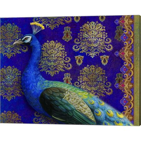 Indian Peacock by Maria Rytova, Canvas Wall Art, 20W x 16H