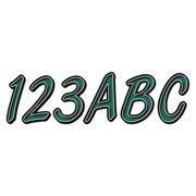 HARDLINE PRODUCTS GTEBKG400 Number and Letter Combo Kit,Dark Green