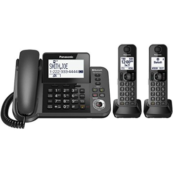Panasonic KX-TGF382M DECT 6.0 Plus Corded / Cordless 2-Handset Landline Telephone System (Certified Refurbished)