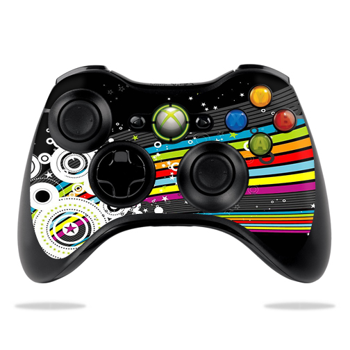 Protective Vinyl Skin Decal Cover for Microsoft Xbox 360 Controller wrap sticker skins Color Blast