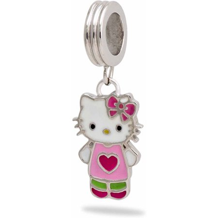 Connections From Hallmark Hello Kitty Stainless Steel Dangle Charm