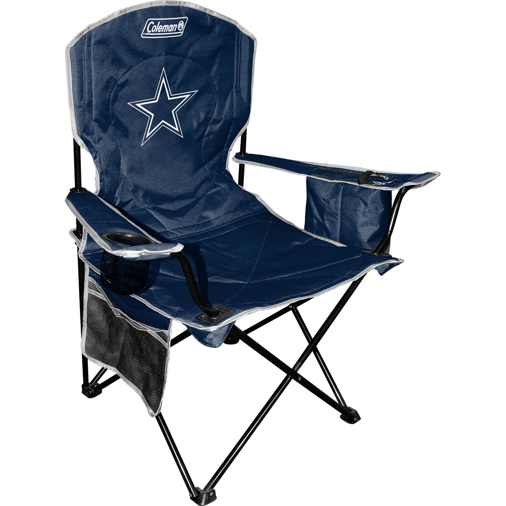 Dallas Cowboys Coleman Cooler Quad Chair - Navy - No Size