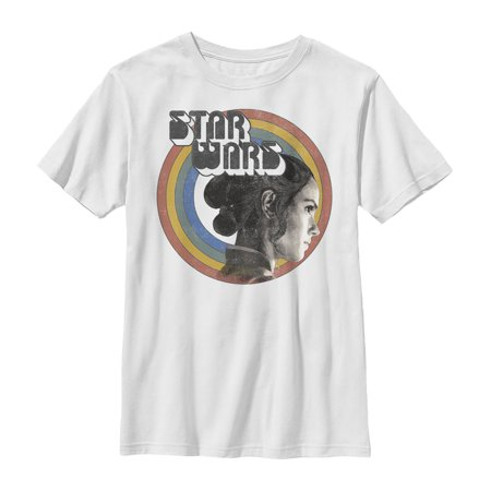 Star Wars: The Rise of Skywalker Boys' Rey Vintage Rainbow T-Shirt