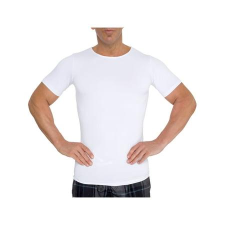 men's slimming compression body shaper gynecomastia undershirt