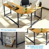 90° L-Shaped Desk Corner Latop Computer PC Table Table w/ CPU Stand Study Office Home Workstation Wood