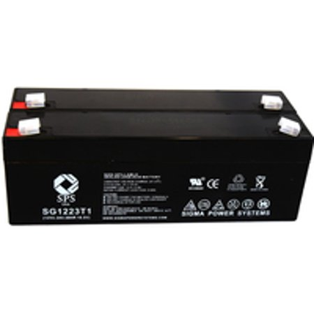 Sps Brand 12V 2 3 Ah Replacement Battery  For Omega 1400 Bp Cuff  2 Pack