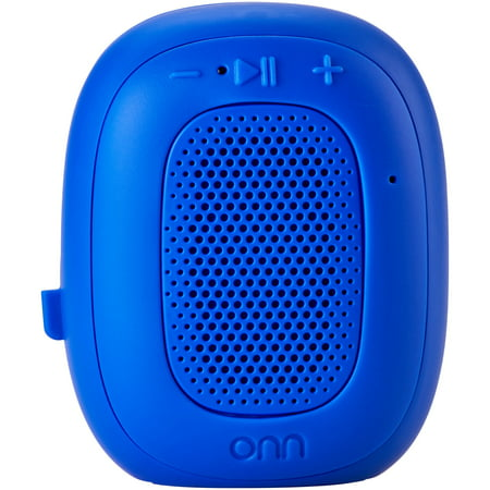 ONN Mini Bluetooth Speaker, Cobalt Crush, Built-In Speakerphone & Hanging Strap