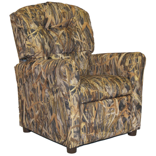 Brazil Furniture Flooded Timber Camo Kids Recliner