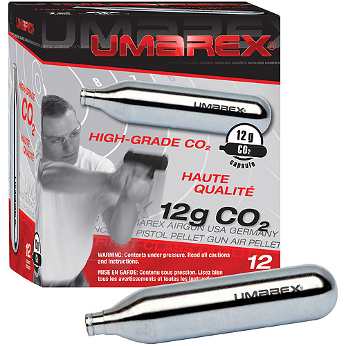 Umarex 12-Gram CO2 Cartridges, 12 Count