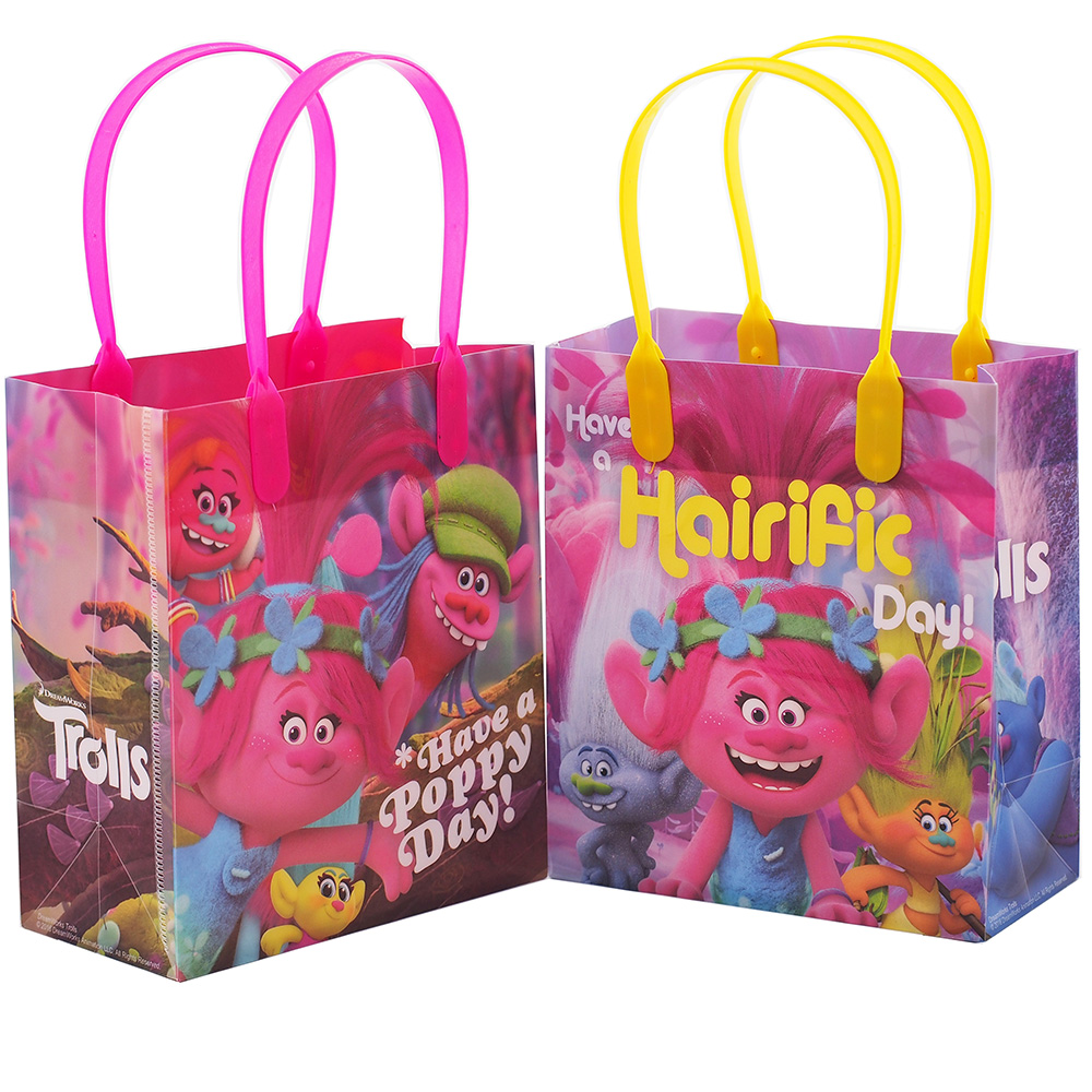 Trolls Dreamworks 12 Authentic Licensed Party Favor Reusable Small Goodie Gift Bags