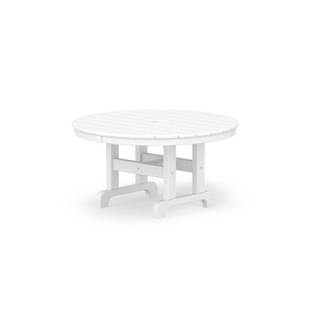 POLYWOOD Recycled Plastic Round Outdoor Coffee Table