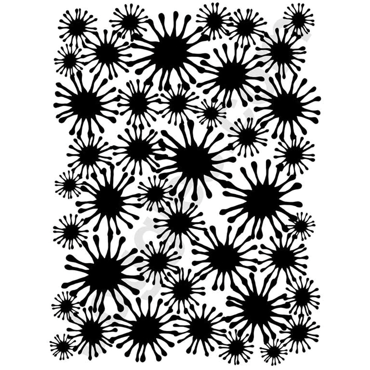 "Joggles Stencil 9""X12""-Star Flower Mask"