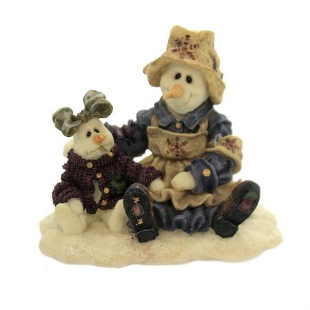 Boyds Bears Resin FLORENCE AND KATERINA Polyresin Winter Snowmen Nurse