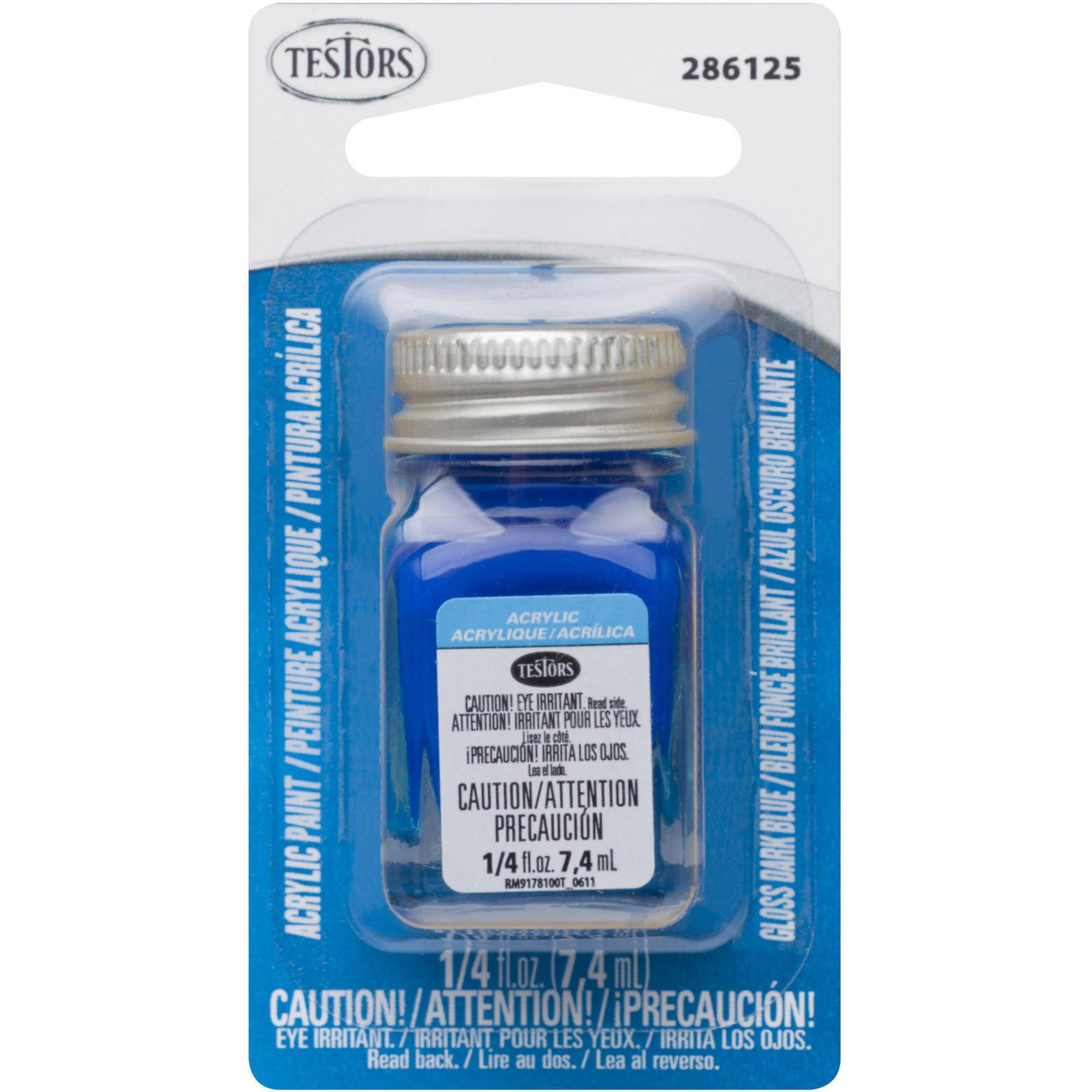 Testors 1/4 oz Acrylic Gloss Dark Blue Card WM