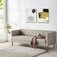 "Zinus Pascal 73"" Sofa, Oatmeal Grey"