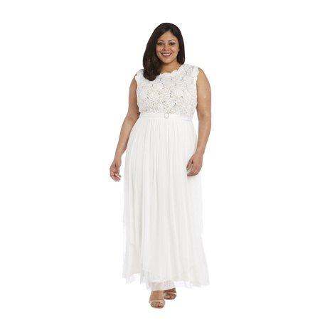 r & m richards plus size evening gown
