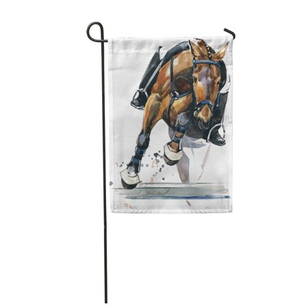 NUDECOR Equestrian Horse Stallion Watercolor Active Garden Flag Decorative Flag House Banner 12x18 inch - image 1 of 1