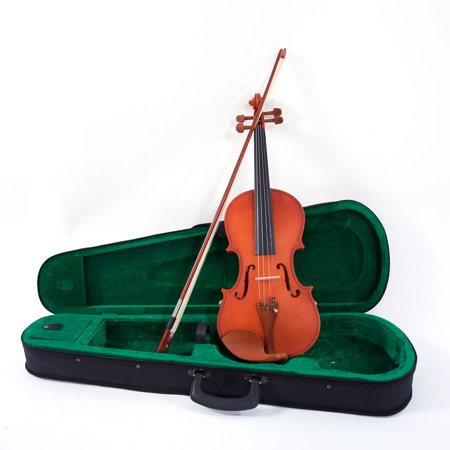 Clearance! Acoustic Solid Violin, Fiddle Starter Kit with Case, Bow, Rosin, Strings, Shoulder Rest, Violin Set, Musical Instruments for Kid/Adult, Violin for Beginners, 1/8 1/4 1/2 3/4 4/4,W2722