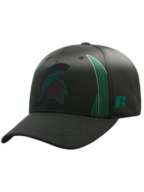 Men's Russell Athletic Black Michigan State Spartans React Adjustable Hat - OSFA