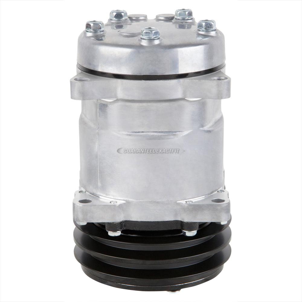 AC Compressor & A/C Clutch Replaces Sanden SD508 SD5H14 4509 4510 2-Groove