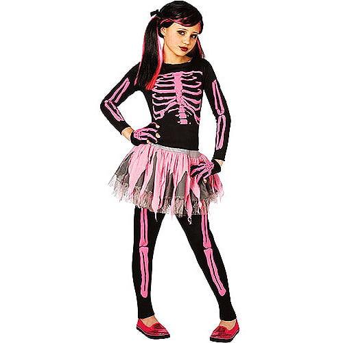 Skeleton Outfit Halloween.Pink Skeleton Child Halloween Costume