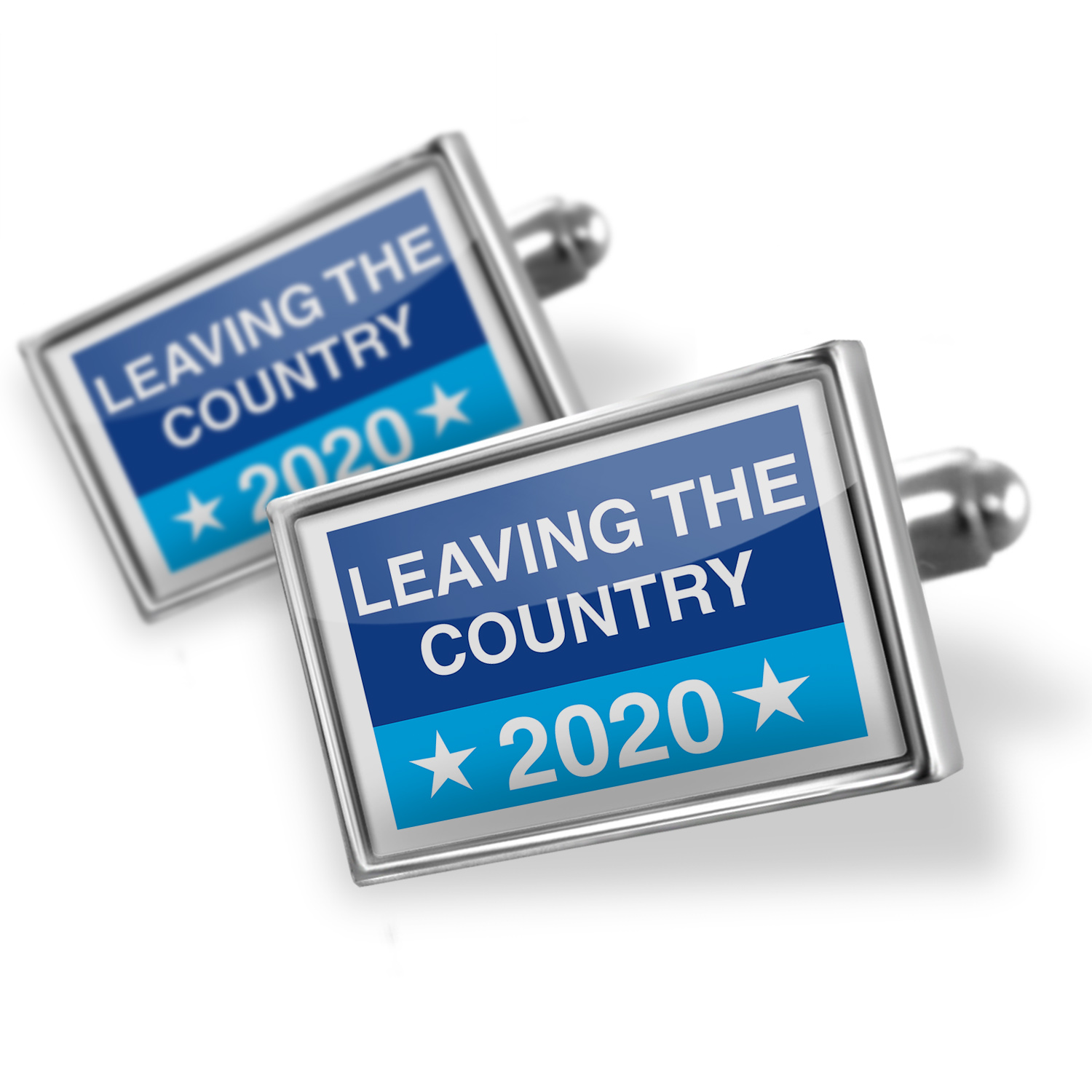 Cufflinks Funny Election Sign Leaving The Country 2020 - NEONBLOND